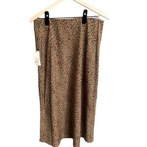 A New Day midi skirt animal print L